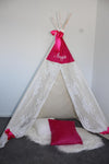 Rose Lace  & Hot Pink Teepee