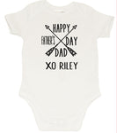 Fathers day Romper - Cross Arrow