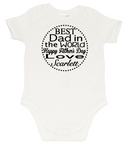 Fathers day Romper - Dot Circle