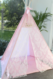 Royal Damask Lace and Baby Pink Teepee