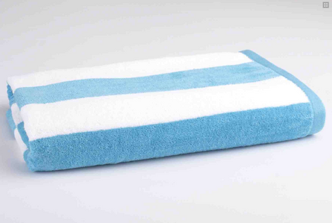 Personalised Beach Towel - Aqua