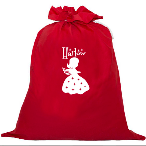 Personalised Santa Sack - Angel