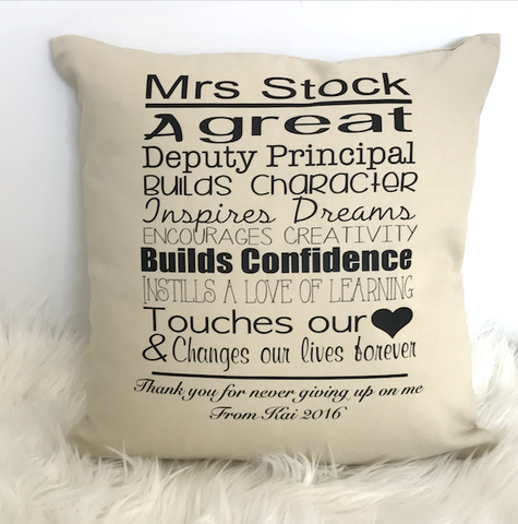 Teachers Cushions - Principal