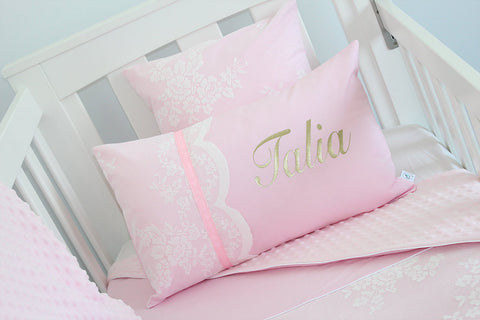 Premium Personalised Cushions- Lace and Ribbon