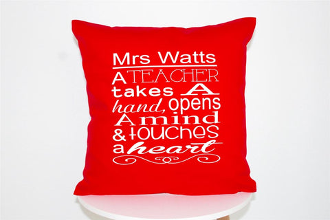 Teachers Cushions - Touches a Heart