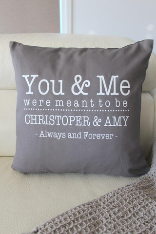 Anniversary Cushion - You & Me