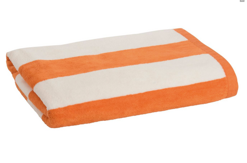 Personalised Beach Towel - Orange