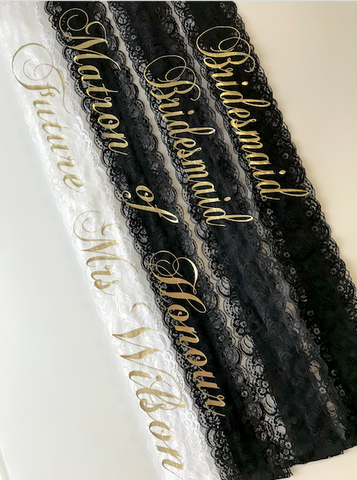 Personalised Lace Sash