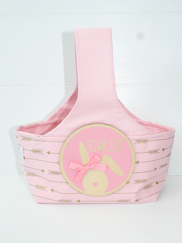 Easter Hunting Baskets -Baby Pink Arrows