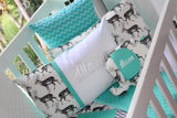 Mint Stag Delux Patch Comforter Set