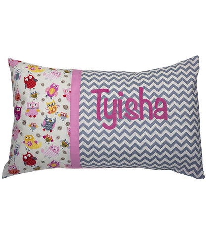 Personalised Cushion Chevron Hoot