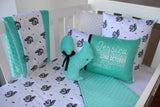 Mint Squirrel Comforter Cot Set - PREMIUM