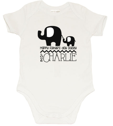 Fathers day Romper - Elephant