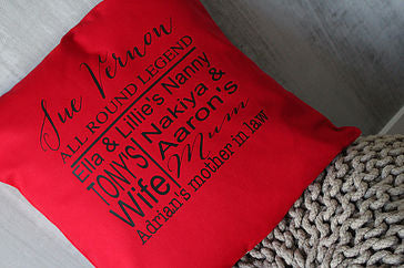 Anniversary Cushion - Grandma