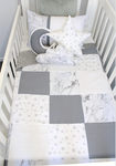 Star and marble patch cot set