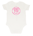 Easter Romper - Arrows Amelia Pink