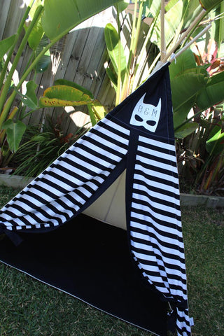 Black & White Stripe Batman Teepee