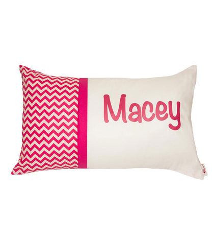 Personalised Cushion Pink chevron