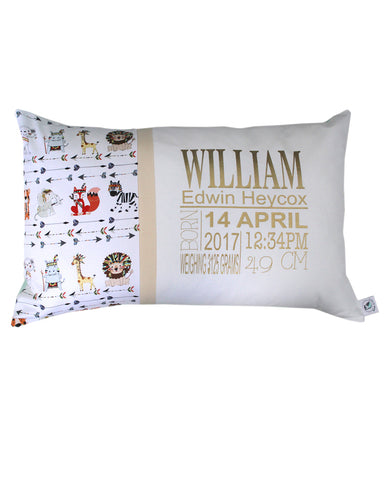 Personalised Cushion - Tribal Animal Seeded