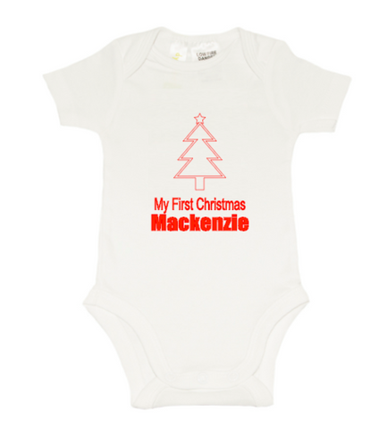 Christmas Romper - First Christmas - Tree