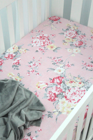 Blush Fitted Sheet - Hoot Designz