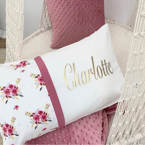 Boho Harlow Floral Personalised Cushion - Hoot Designz