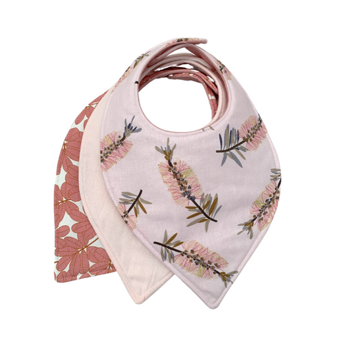 Bottle Brush Bandana Bib Set