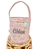 Baby Pink Bunny & Balloon - Easter Hunting Basket