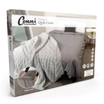 WATERPROOF QUILT COVER - GREY