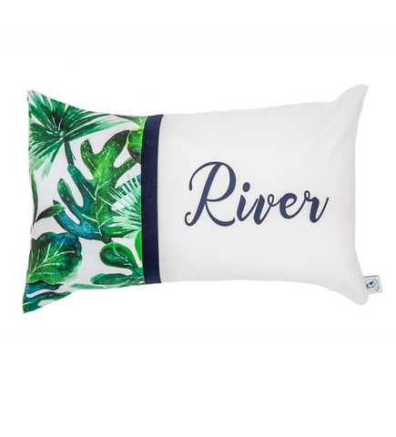River Palm Leaf Personalised Cushion - Hoot Designz