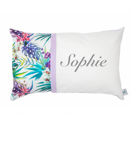 Tropical Orchid Personalised Cushion - Hoot Designz