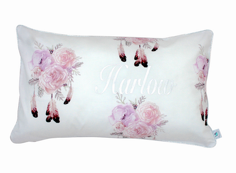 Bohemian Blush Florals  Personalised Cushion