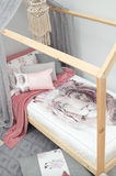 Blush Bohemian Lion Doona Cover