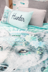 Wolf Doona Cover - Mint