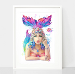 Beautiful Mermaid Print - Spirit Animal Totem Series