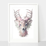 Dusty Pink Deer Print - Spirit Animal Totem Series