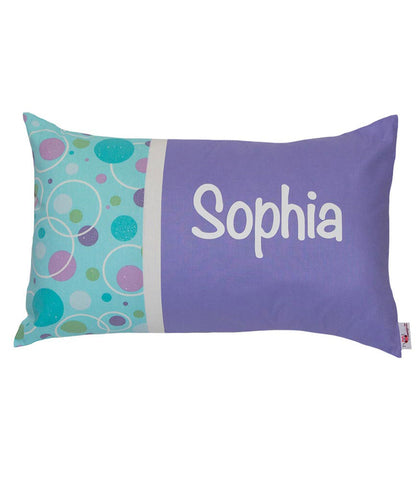 Personalised Cushion Lilac & Mint Circles