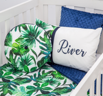 River Palm Leaf Cot Set