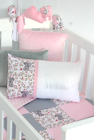 Summer Elephant Patch - Cot set