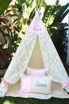Strawberries & Cream Vintage Lace Teepee