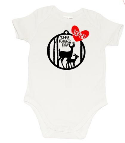 Fathers day Romper - Stag's