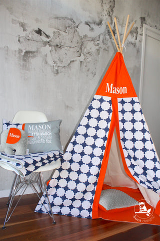 Moroccan Navy & Orange Teepee