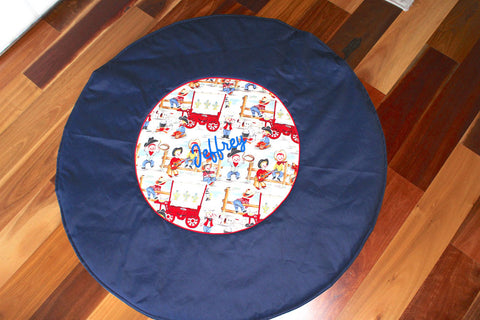 Navy Cowboy Play Mat