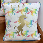 Personalised Cushion - Watercolour Unicorn