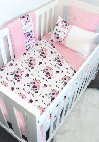 Floral Peony Cot Set