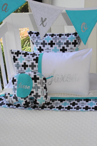 Aqua & Grey Plus Cross Geo - PREMIUM