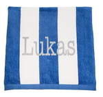 Personalised Beach Towel - Navy