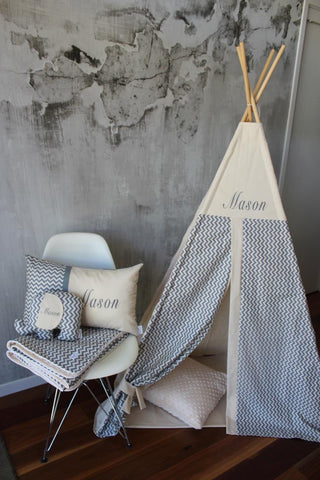 Grey Chevron - Teepee