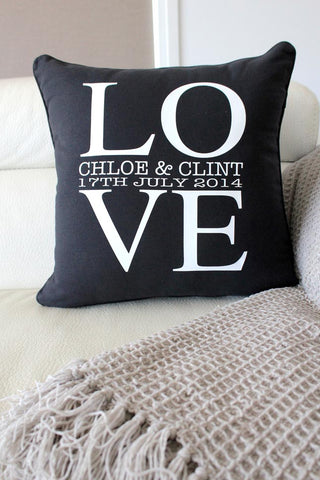 Anniversary Cushion - LOVE