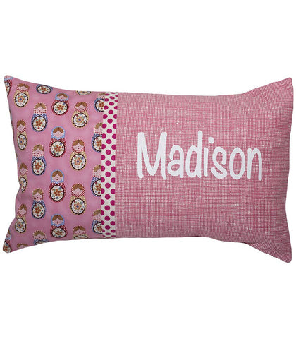 Personalised Cushion Pink Babushka